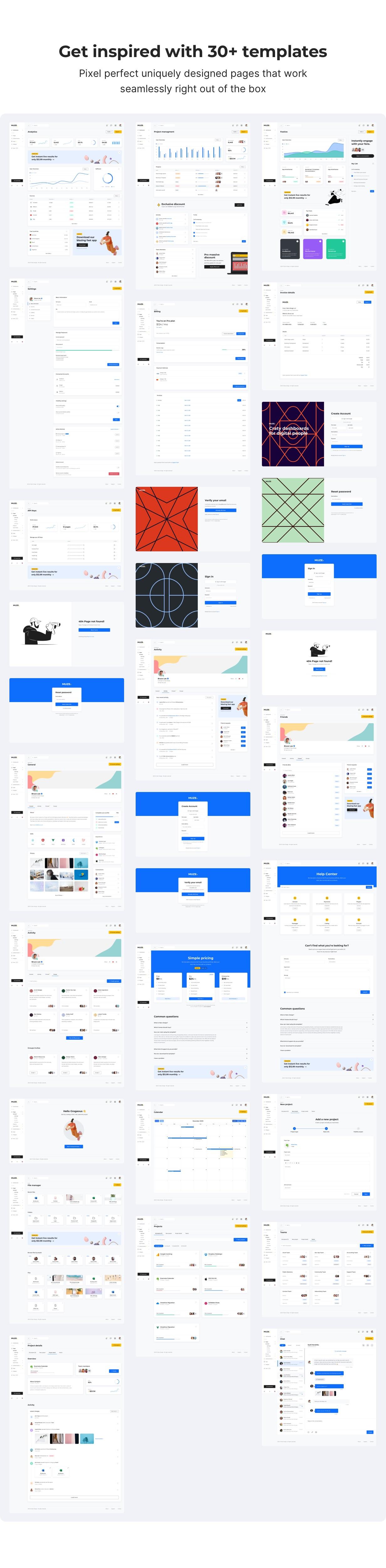 Muze - Bootstrap 5 HTML Admin Dashboard Template - 3