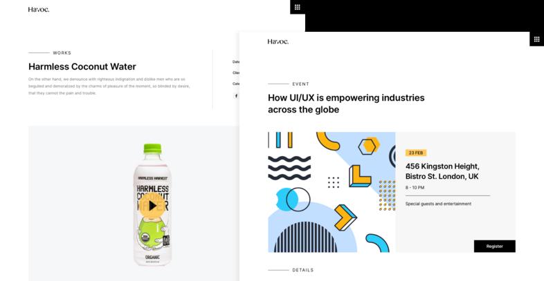 Havoc Agency UI Kit for Sketch, Figma, & Adobe XD