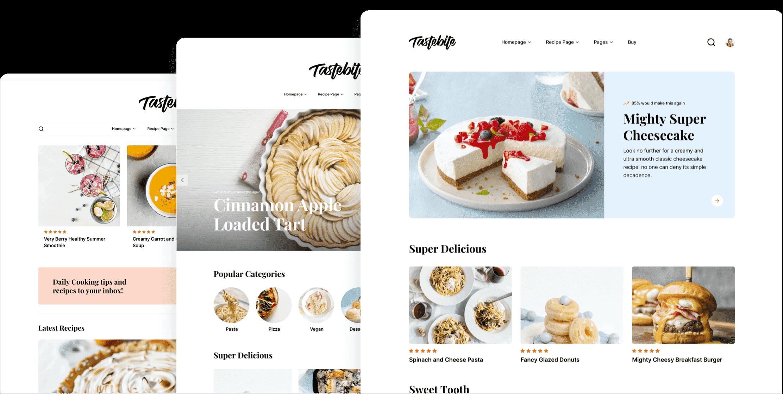 Tastebite – Food Recipes Website Template