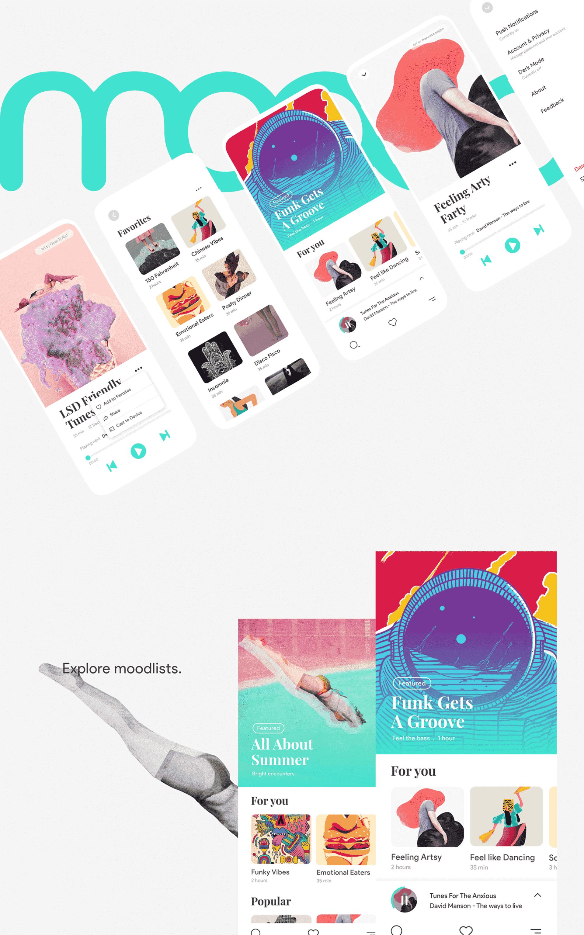 moood music app ui kit