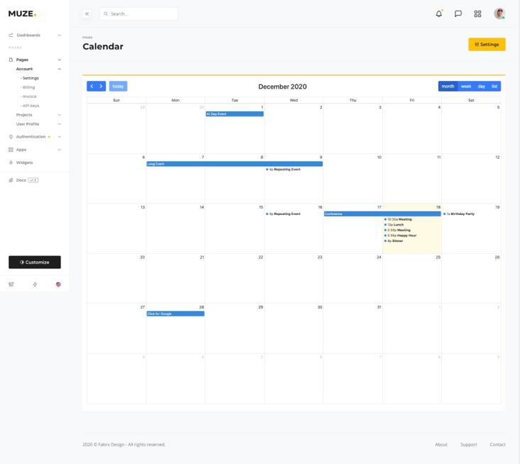 apps calendar