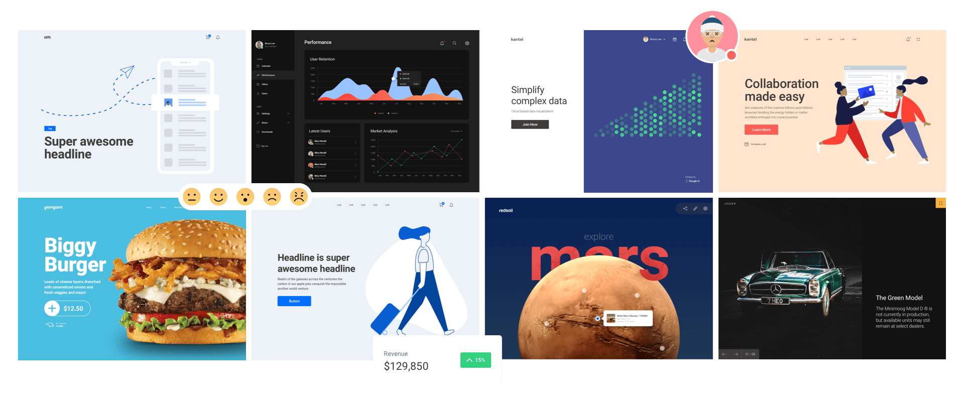 Web Layouts Ui Kit For Sketch